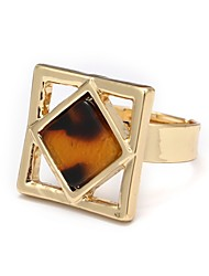 cheap -Women's Open Cuff Ring Onyx Gold Agate Alloy Geometric Ladies Simple Korean Daily Jewelry Geometrical