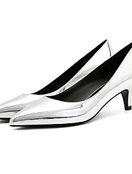 cheap -Women's Heels Stiletto Heel Pointed Toe Patent Leather / PU(Polyurethane) Comfort / Basic Pump Spring / Fall Black / Silver / Nude / 2-3