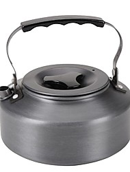 cheap -Camping Kettle 1.6 L Outdoor Cookware One-piece Suit Heat Insulated Wearable Stainless Steel for 3 - 4 person Outdoor Camping Black