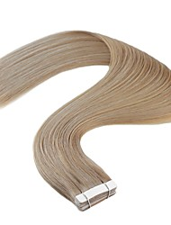 cheap -Neitsi Tape In Human Hair Extensions Straight Remy Human Hair Brazilian Hair Natural Blonde 1pack Women's Light Blonde