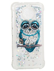 cheap -Case For Motorola Moto G5s / Moto E4 Shockproof / Flowing Liquid / Pattern Back Cover Owl Soft TPU