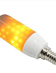 cheap -1pc LED Flame Effect Fire Light Bulb E14 E26 E27 Base LED Globe Bulbs LED Corn Lights 108 LED Beads SMD 2835 3 W 250-280 lm Decorative Flame Flickering Yellow 85-265 V