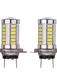 cheap -2PCS Original Foglight Size Retrofit 16.5W 1320LM Car Fog Light H7 Bulbs with Ultra Bright Lightness