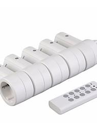 Недорогие -rf433 5 беспроводных разъемов питания переключатель1 пульт дистанционного управления домашняя сеть eu штекер высокое качество беспроводной