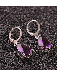 cheap -Women's Crystal Drop Earrings Drop Sweet Fashion Earrings Jewelry Purple For Party Daily