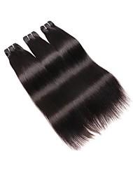 Недорогие -Бразильские волосы Прямой человеческие волосы Remy Натуральные волосы 150 g Человека ткет Волосы Естественный цвет Ткет человеческих волос Для темнокожих женщин Расширения человеческих волос