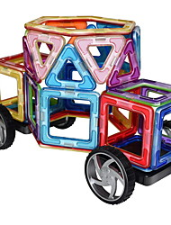 cheap -Magnetic Blocks Magnetic Tiles Building Blocks 63 pcs Classic Theme Car Magnetic Hand-made Chic & Modern Traditional Boys' Girls' Toy Gift
