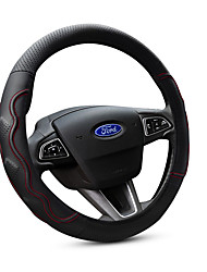 cheap -Steering Wheel Covers Genuine Leather 38cm Black / Red For Ford Focus / Escort / Fiesta All years