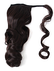 cheap -Human Hair Extensions Ponytails Wavy Body Wave Synthetic Hair Hair Extension Clip In Daily