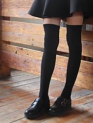 Недорогие -2 Дети Девочки Активный Однотонный Хлопок Белье / носки Черный