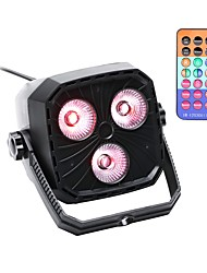 cheap -U'King Disco Lights Party Light LED Stage Light / Spot Light / LED Par Lights DMX 512 / Master-Slave / Sound-Activated Party / Stage / Bar Easy Carrying / Lightweight RGBW 4-in-1 for Dance Party