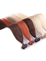 Недорогие -Neitsi Fusion / с U-образным кончиком Расширения человеческих волос Прямой Натуральные волосы Накладки из натуральных волос Омбре Жен. Черный