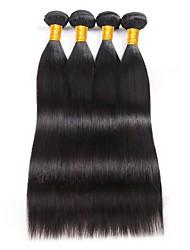 Недорогие -4 Связки Бразильские волосы Прямой Натуральные волосы 200 g Человека ткет Волосы 8-28 дюймовый Ткет человеческих волос Расширения человеческих волос / 8A / Прямой силуэт