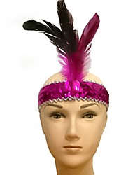 cheap -Feather Masquerade Mask Inspired by Purple Yellow Classic Halloween Carnival Masquerade Adults' Men's Women's Female / Hair Band / Hair Band