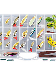 cheap -138 pcs Flies Fishing Lures Hard Bait Soft Bait Jigs Buzzbait & Spinnerbait Spoons Jerkbaits Flies Bass Trout Pike Sea Fishing Freshwater Fishing Bass Fishing Plastic Metal / Minnow / Crank / Pencil