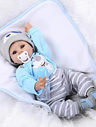 cheap -NPKCOLLECTION NPK DOLL Reborn Doll Baby 22 inch Silicone Vinyl - lifelike Cute Hand Made Child Safe Non Toxic Lovely Kid's Unisex / Girls' Toy Gift / Parent-Child Interaction / CE Certified