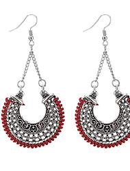 cheap -Women's Drop Earrings Ladies Bohemian Fashion Boho Earrings Jewelry Black / Red / Blue For Going out