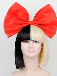 cheap -Synthetic Wig Straight Straight Bob Wig Short Black / Gold Synthetic Hair Black