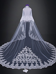 cheap -Two-tier Wedding / Bridal Wedding Veil Cathedral Veils with Lace Tulle / Classic