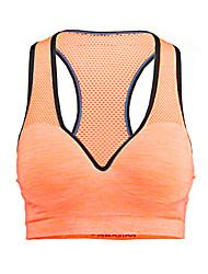 cheap -Women's Sports Bra Top Sports Bra Racerback Elastane Yoga Running Breathable Quick Dry Moisture Permeability Padded Medium Support Orange / Stretchy