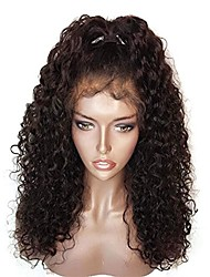 cheap -Remy Human Hair 360 Frontal Wig with Baby Hair style Brazilian Hair 360 Frontal Loose Wave Wig 150% 180% Density African American Wig Women's Short Medium Length Long Human Hair Lace Wig Premierwigs