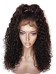 Недорогие -человеческие волосы Remy 360 Лобовой Парик С пушком стиль Бразильские волосы 360 фронтальных Свободные волны Парик 150% 180% Плотность волос Парик в афро-американском стиле Жен.