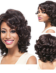 cheap -Synthetic Wig Curly Deep Wave Curly Deep Wave Wig Brown Synthetic Hair Natural Hairline Brown