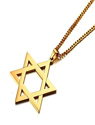 cheap -Men's Pendant Necklace Star Star of David Pentagram Simple scottish Stainless Steel Steel Stainless Gold Silver Necklace Jewelry One-piece Suit For Gift Daily