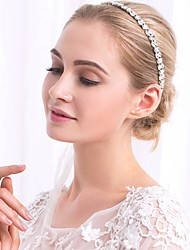 cheap -Alloy Headbands with Crystals / Rhinestones 1pc Wedding / Special Occasion Headpiece