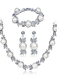 cheap -Women's Bridal Jewelry Sets Sweet Fashion Earrings Jewelry Silver For Wedding Party