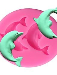 cheap -Dolphin Silicone Cake Mold 3D Fondant Soap Chocolate Candy Sugarcraft Mould