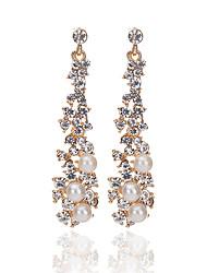 cheap -Women's Drop Earrings Ladies Bohemian Fashion Boho Imitation Pearl Imitation Diamond Earrings Jewelry Gold For Going out Bikini