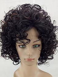 cheap -Synthetic Wig Kinky Curly Kinky Curly Wig Medium Length Brown Synthetic Hair Highlighted / Balayage Hair Brown hairjoy