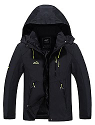 cheap -Men's Hiking Jacket Winter Outdoor Waterproof Windproof Breathable Sweat-Wicking Jacket Top Full Length Visible Zipper Camping / Hiking Climbing Cycling / Bike Black / Orange / Army Green / Navy Blue