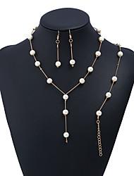 cheap -Women's Jewelry Set Pendant Necklace Bracelet Floating Ladies Korean Sweet Elegant Earrings Jewelry Gold / Silver For Wedding Valentine / Dangle Earrings