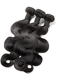 cheap -3 Bundles Hair Weaves Brazilian Hair Body Wave Human Hair Extensions Virgin Human Hair Human Hair Natural Color Hair Weaves / Hair Bulk / Short / Unprocessed Human Hair