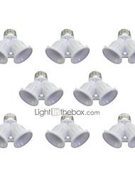 cheap -8pcs E27 to E27 E27 Bulb Accessory Plastic Light Bulb Socket 100 W