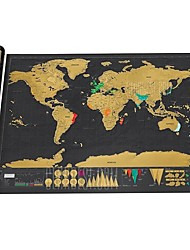 Недорогие -Карты Scratch Map Семья Веселье Креатив Карта мира Куски Пластик Игрушки Подарок