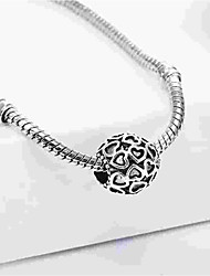 cheap -DIY Jewelry 1 pcs Beads Alloy Silver Oval Bead 0.5 cm DIY Necklace Bracelet