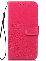 cheap -Case For OPPO Oppo R9s / Oppo R11s Wallet / Card Holder / with Stand Solid Colored Hard PU Leather for