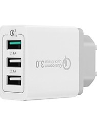 cheap -Portable Charger USB Charger EU Plug QC 3.0 / Fast Charge / Multi Ports 3 A for