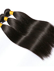 cheap -3 Bundles Brazilian Hair Straight Virgin Human Hair Natural Color Hair Weaves / Hair Bulk Black Human Hair Weaves Human Hair Extensions / 10A