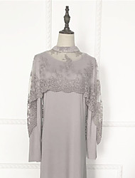 Недорогие -арабский Жен. Мода Арабское платье Абайя Платье Кафтан Назначение Шелково-шерстяная ткань Однотонный