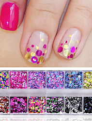 cheap -1 set Glitter Powder Sequins For nail art Manicure Pedicure Sweet Style / Fashionable Jewelry / Classic Daily