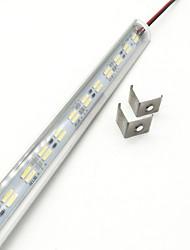 cheap -ZDM 50CM 15W 72 x 5730 SMD 14mm LED V Shape 90 Degree White LED Hard Light Bar Counter Lamp Cold White  Warm White DC12V