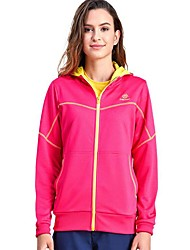 cheap -Women's Hiking Fleece Jacket Winter Outdoor Warm Quick Dry Top Single Slider Running Camping / Hiking Casual Dark Grey / Sky Blue / Fuchsia Hiking Fleece Camping & Hiking Apparel & Accessories