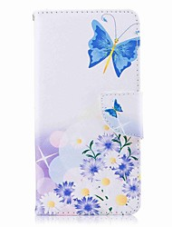 cheap -Case For Nokia Nokia 8 / Nokia 6 / Nokia 5 Wallet / Card Holder / with Stand Full Body Cases Butterfly Hard PU Leather