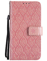 cheap -Case For Sony Xperia Z5 / Sony Xperia Z4 / Sony Xperia Z3 Sony Xperia Z3 / Sony Xperia Z3 Mini / Z4 Mini Wallet / Card Holder / with Stand Full Body Cases Flower Hard PU Leather / Sony Xperia XA