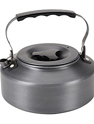 cheap -Camping Kettle 1.1 L Outdoor Cookware One-piece Suit Wearable Stainless Steel for 2 person Outdoor Camping Black