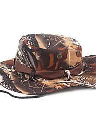 cheap -Hiking Hat Boonie hat Wide Brim Sunscreen UV Resistant Cotton Summer for Men's Women's Climbing Outdoor Exercise Coffee